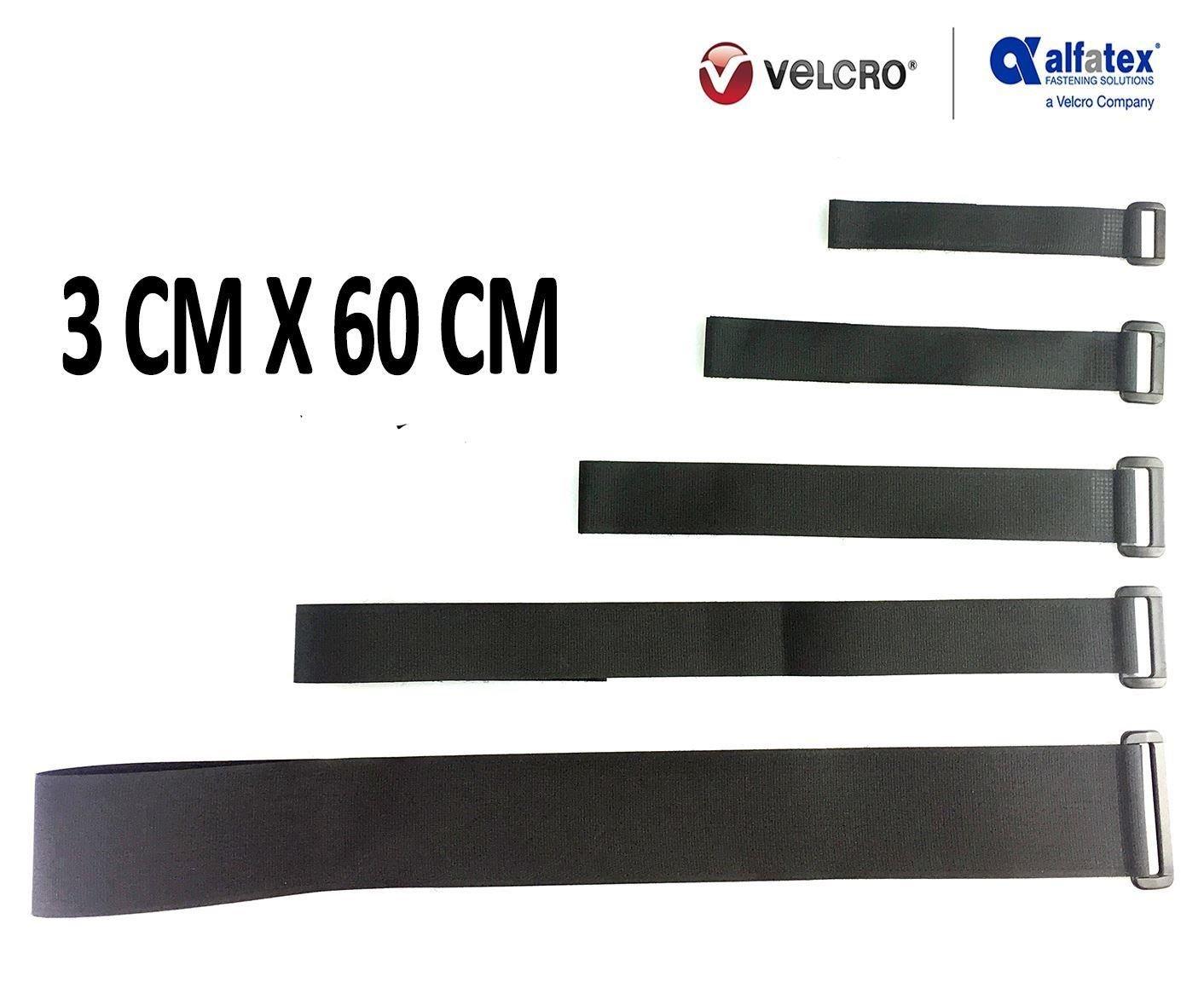 2 Gep/äckgurte mit Klettverschl/üssen von Alfatex by Velcro