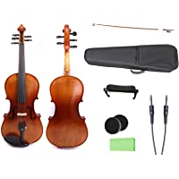 Yinfente 4/4 violin 5 string Electric violin Full size Maple Spruce wood Big jack Ebony wood Violin parts Sweet Sound