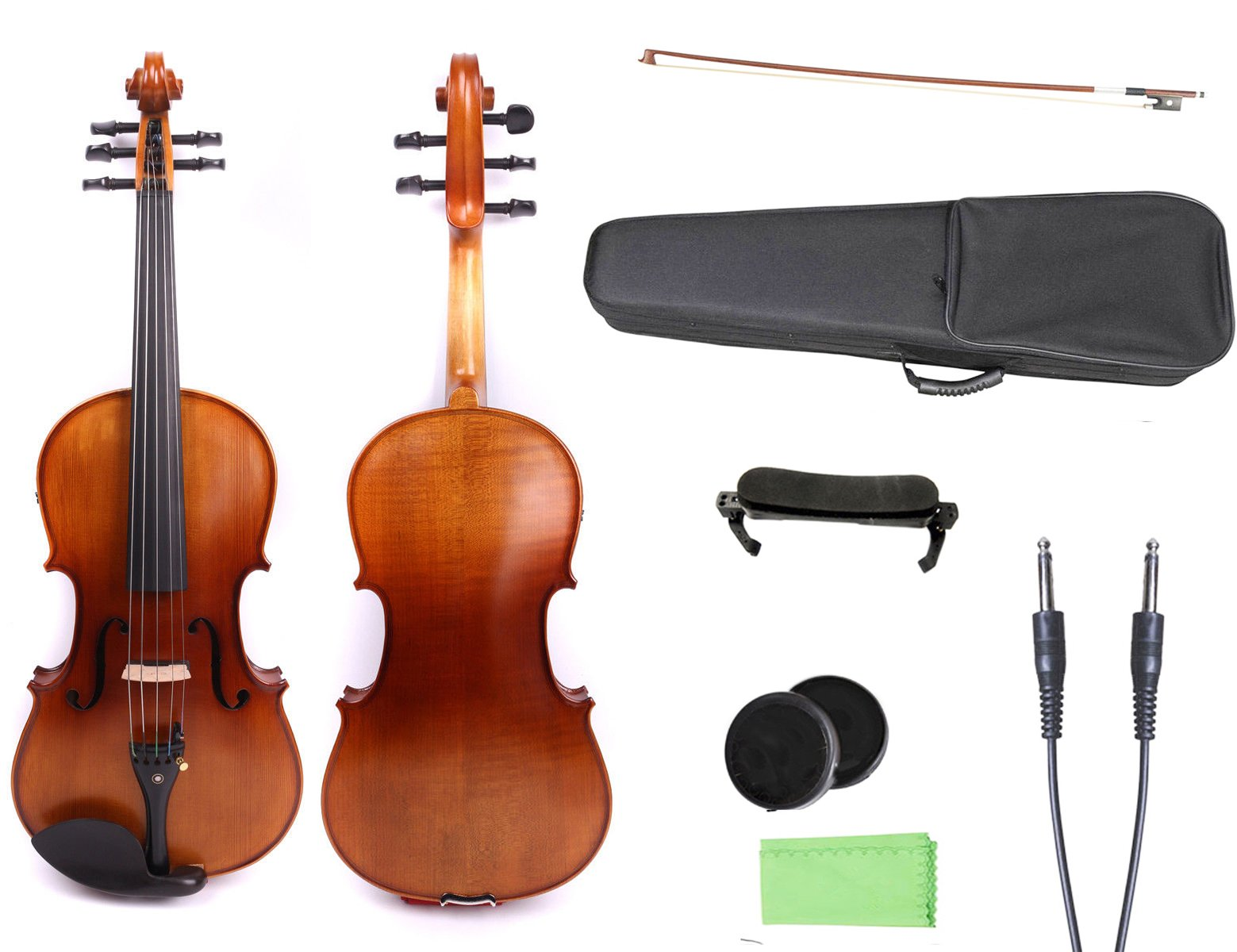 Yinfente 4/4 violin 5 string Electric violin Full size Maple Spruce wood Big jack Ebony wood Violin parts Sweet Sound by yinfente (Image #1)