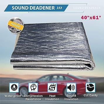 236mil Heat Shield Sound Deadener Deadening Heat Insulation Mat Noise Insulation and Dampening Mat Heat Proof Mat 6 Sheet 20 x 20