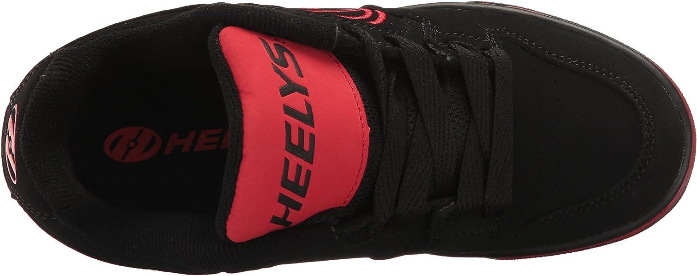 Heelys Motion, Sneaker Basses Garçons et Filles Black Red