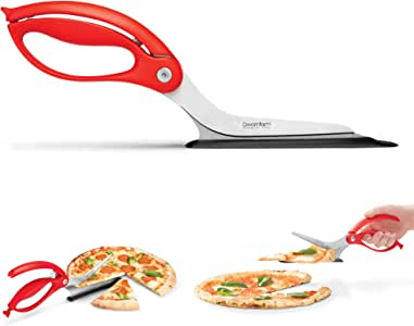 Dreamfarm Scizza Red Pizza Cutter, 12-Inch