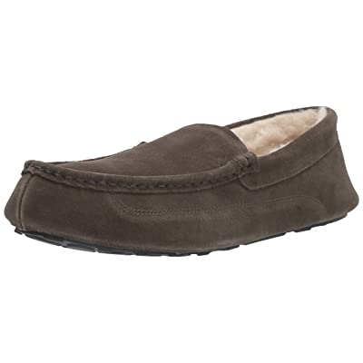 Amazon Essentials Men's Leather Moccasin Slipper: Shoes