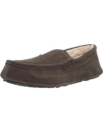 25aa41f45c98e Amazon Essentials Men's Leather Moccasin Slipper