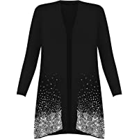 Rimi Hanger Ladies Christmas Sparkle Sequin Open Front Long Sleeve Top Plus Size Cardigan AU 14-30