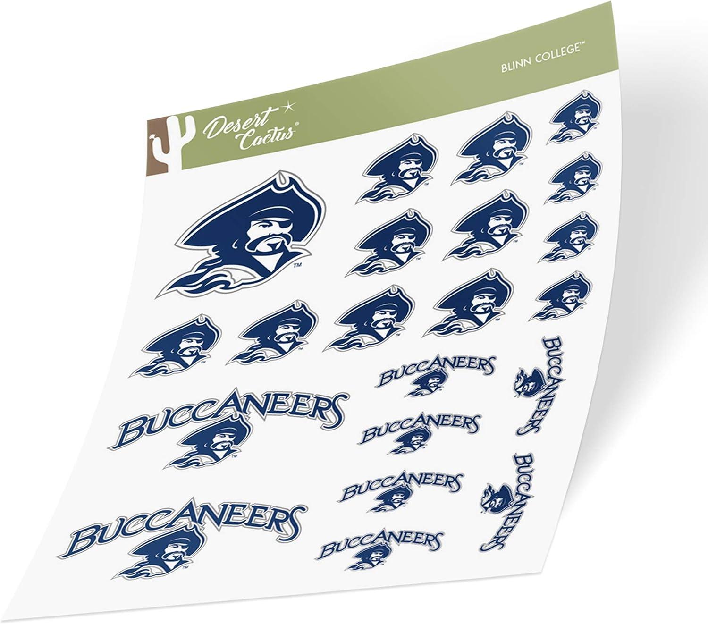 Type 1-1 Sheet Blinn College Buccaneers NCAA Sticker Vinyl Decal Laptop Water Bottle Car Scrapbook