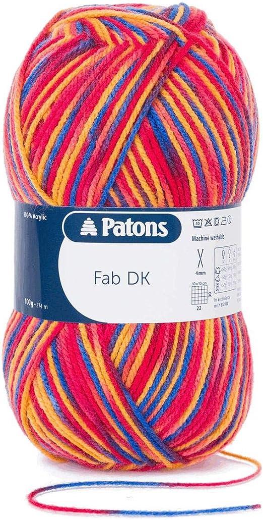 Patons Fab DK 100/% Acrylic Knit Yarn Craft Wool Crochet 100g Ball