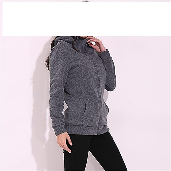 Renee Ander Simple Hooded Warm Coat Female Hoodies Fleece Pockets Jacket Outwears Sweatshirt Plus Size at Amazon Womens Clothing store: