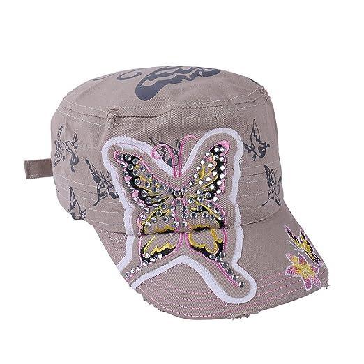 Liansan Hats Women Cute Adjustable Cotton Floral Baseball Cap Ht2603