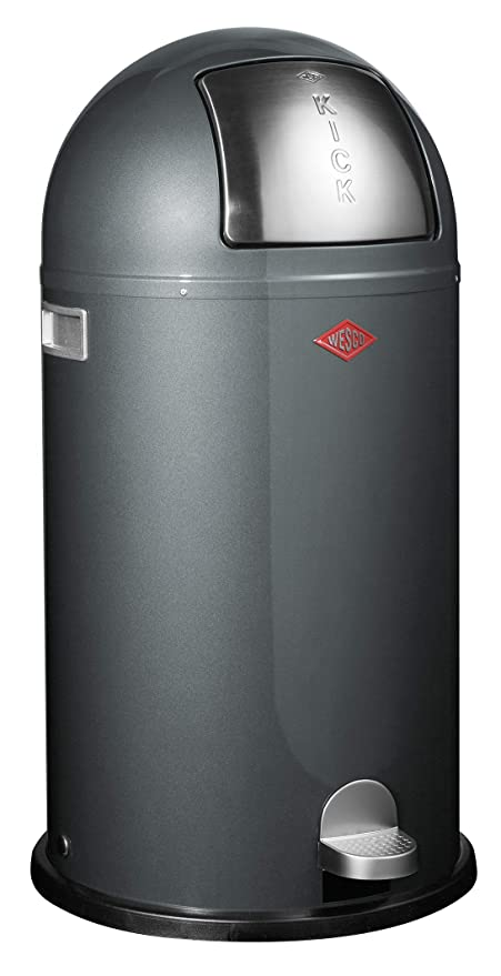 Wesco Kickboy Wit.Amazon Com Wesco Kickboy Powder Coated Steel Waste Bin 40