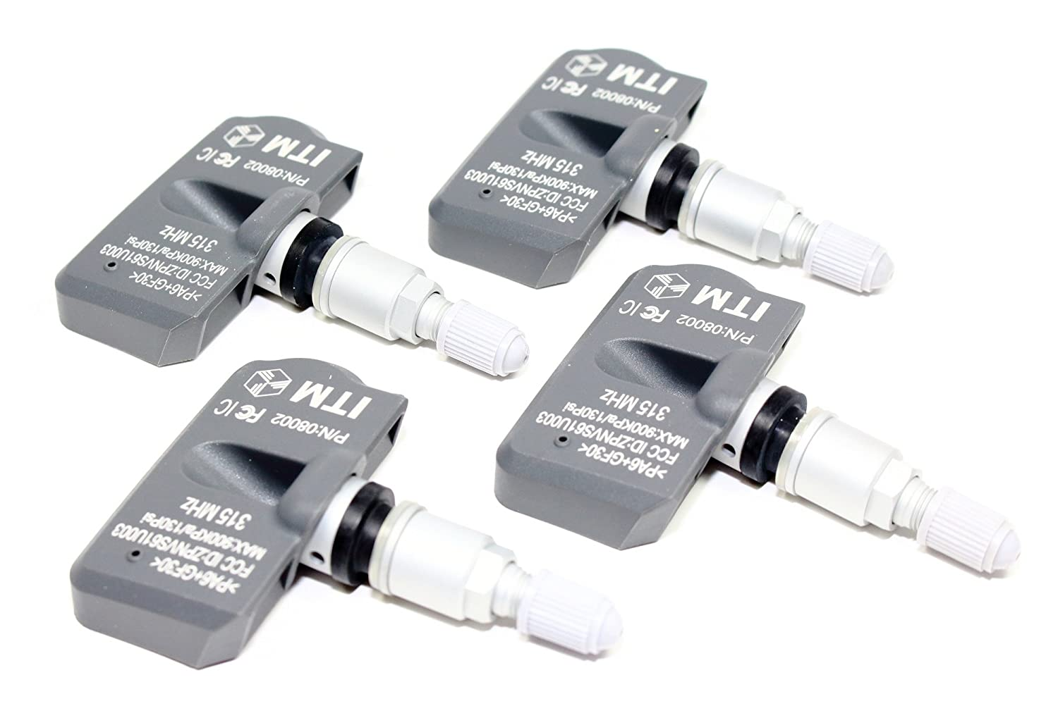 ITM Set of 4 315mhz TPMS Tire Pressure Sensors 2010 2011 2012 2013 2014 2015 2016 2017 Toyota 4 Runner SR TRD Pro SR5 Limited Replacement