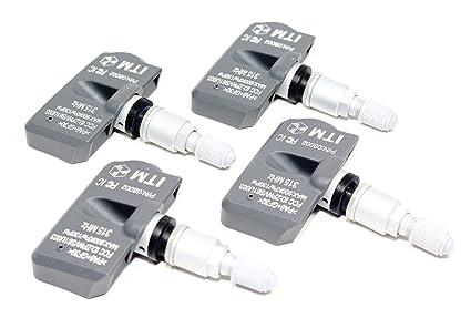 ITM Set of 4 315mhz TPMS Tire Pressure Sensors 2009-2015 Jaguar XF XFR  XFR-S Sedan Supercharged Replacement