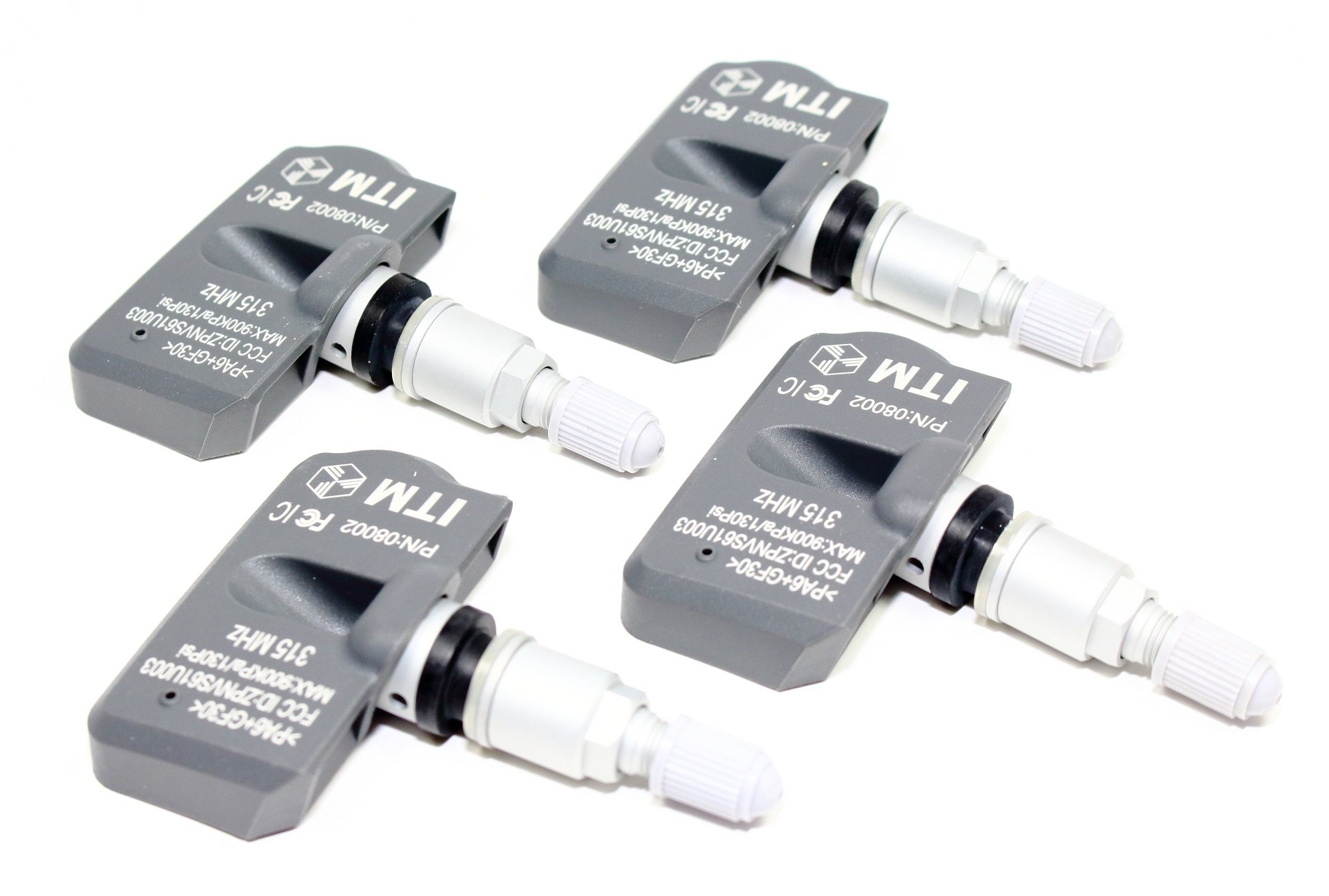Set of 4 ITM 315mhz TPMS Tire Pressure Sensors 2006-2009 Range Rover HSE Supercharged OEM Replacement