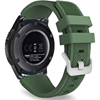 Huawei Watch GT 2 Kordon Akıllı Saat Kordonu Silikon Kayış (46mm, Yeşil)