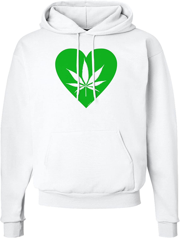 Marijuana Leaf Heart Green Hoodie Sweatshirt