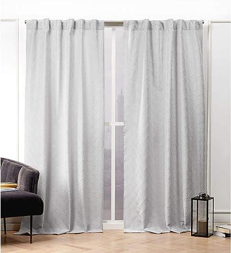 Nicole Miller Trellis Matelass Curtain Panel
