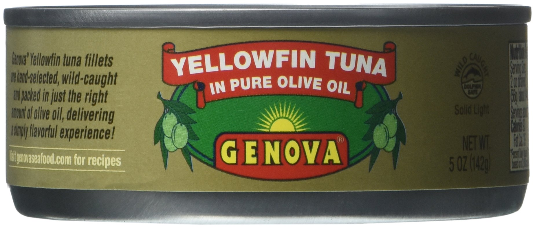 Genova, Yellowfin Tuna in Pure Olive Oil, 5-Ounce (Pack of 24)