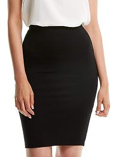 e721df169d SheIn Women's Elegant Mid Waist Bodycon Pencil Skirt Classy 19-inch Length