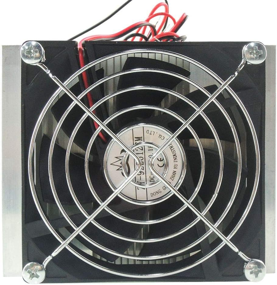 Semoic 12V Thermoelectric Peltier Cooler Refrigeration Semiconductor Cooling System Kit Cooler Fan Finished Kit Computer Components