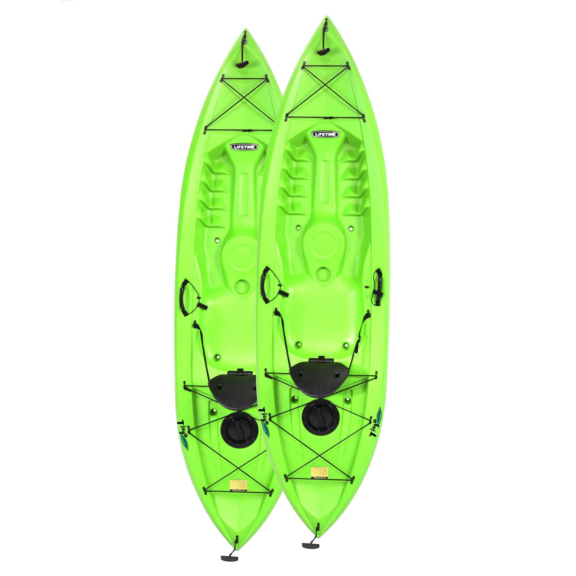 Lifetime Tioga Sit-On-Top Kayak with Paddle (2 Pack), Lime, 120''