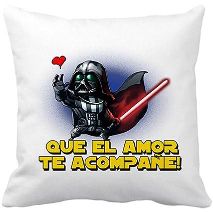 Cojín con relleno Star Wars que el amor te acompañe - Blanco ...
