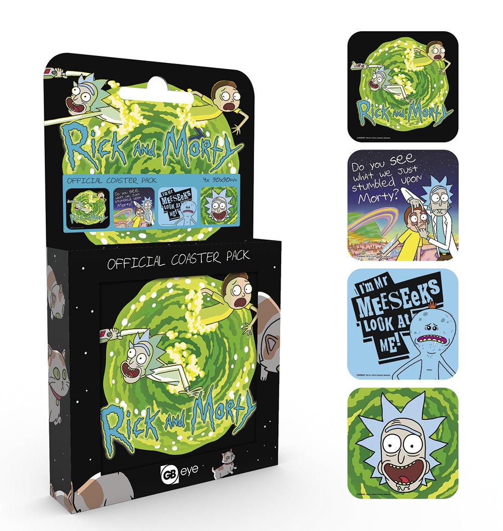Compra GB Eye LTD, Rick y Morty, Mix, Pack de Posavasos en ...