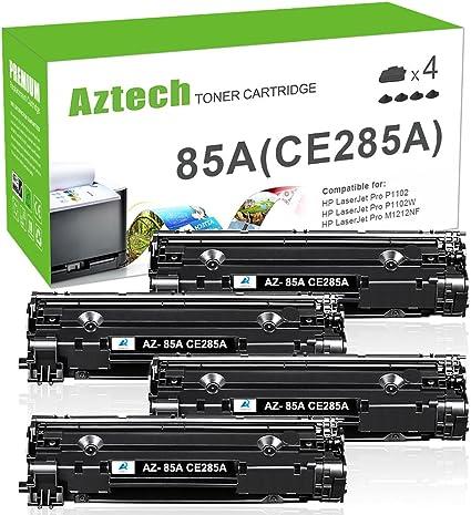 Aztech 4 Pack Repuesto para HP CE285A 85A Negro Cartucho de Tóner ...