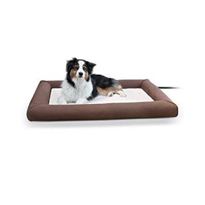 K&H PET PRODUCTS Deluxe Lectro-Soft Outdoor Heated Bed Large Chocolat