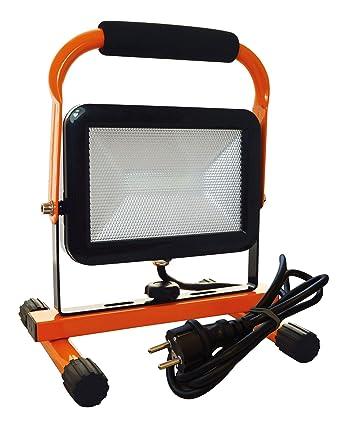 Tibelec 347160 Projecteur de Chantier sur Pied LED 20W 1700 lumens IP65,  Polycarbonate, 20 aa0e8a406adc