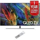 Samsung QN65Q7F Flat 65-Inch 4K Ultra HD Smart QLED TV (2017 Model) with 1 Year Extended Warranty