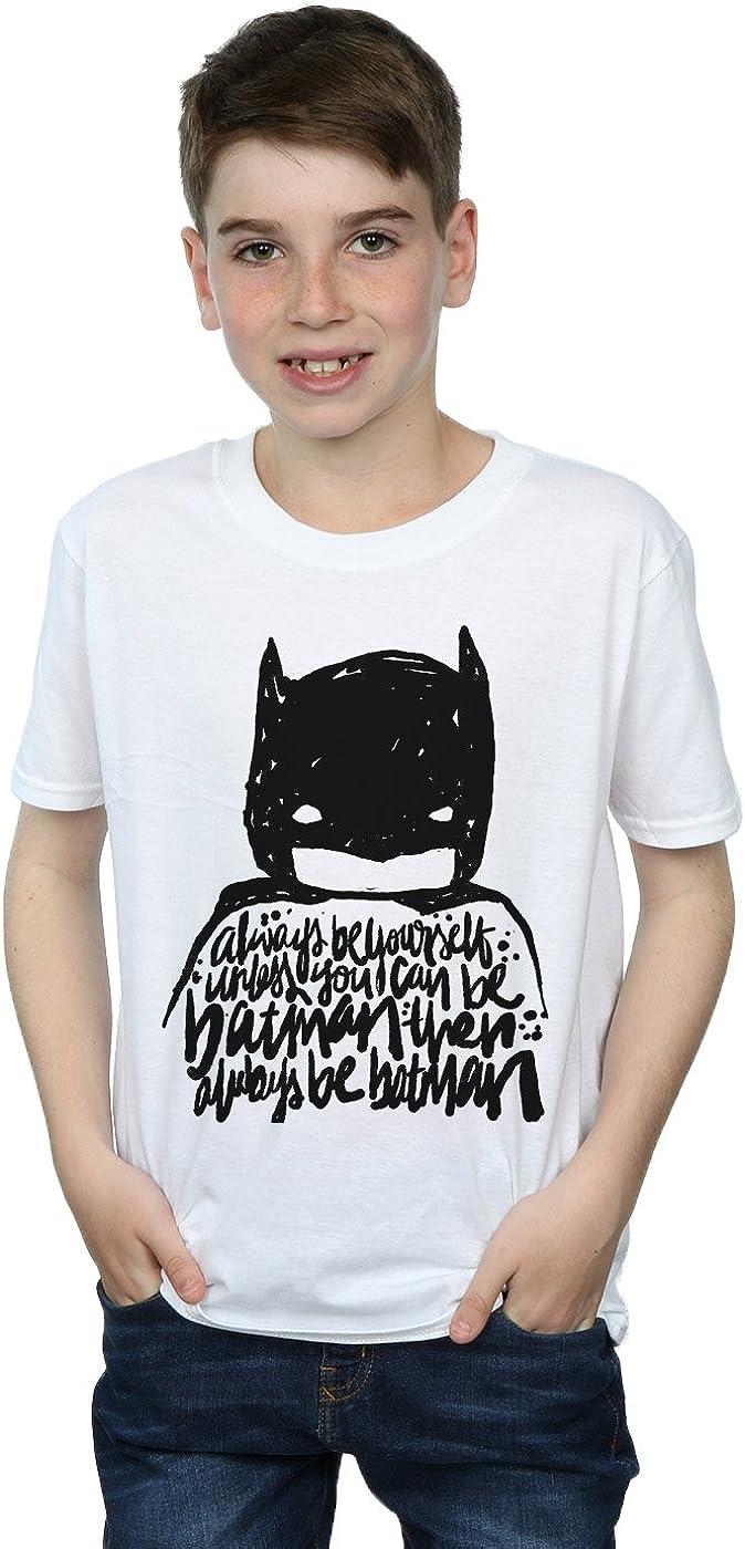 DC Comics niños Batman Always Be Yourself Camiseta 5-6 Years Blanco: Amazon.es: Ropa y accesorios