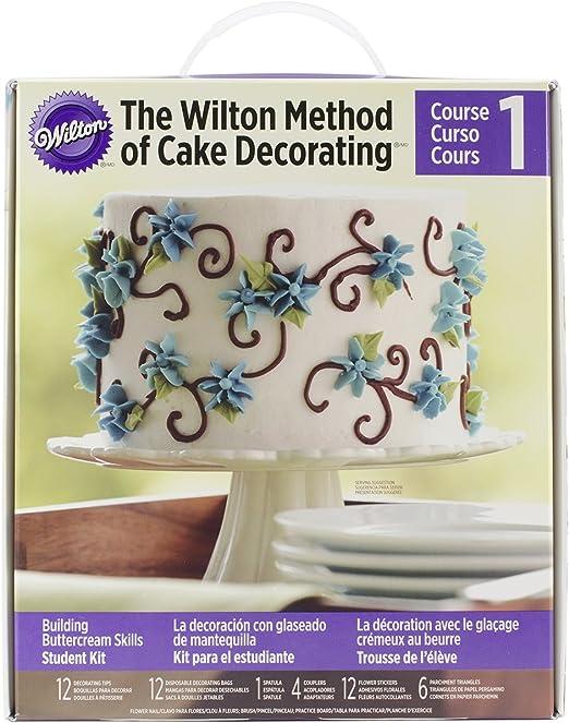 building buttercream skills class 1 wilton cake.htm amazon com wilton student decorating kit course 1 discontinued  wilton student decorating kit course