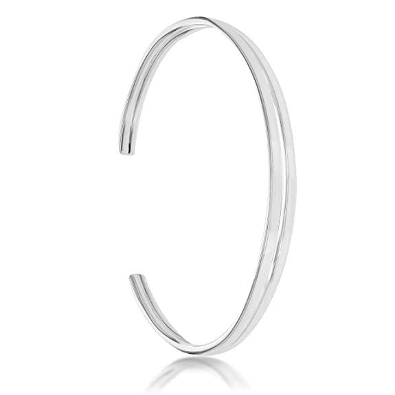 Tuscany Silver Sterling Silver Double Torq Bangle 3aMNS7sQh