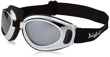 82edc89d1061 Amazon.com  Pacific Coast Airfoil Goggles (Chrome Frame Silver ...