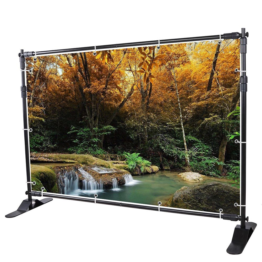 WinSpin 10 Ft Adjustable Background Banner Stand Backdrop Exhibitor Expanding Display by WinSpin