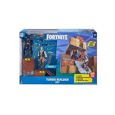 Fortnite Turbo Builder Set 2 Figure Pack, Jonesy & Raven: Toys & Games