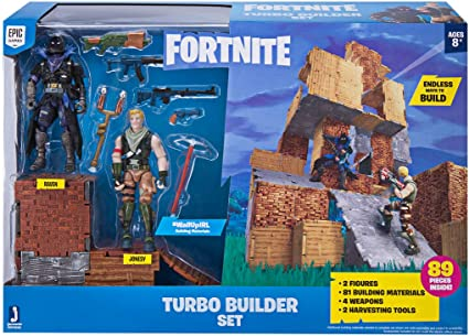 amazon com fortnite turbo builder set 2 figure pack jonesy raven toys games fortnite turbo builder set 2 figure pack jonesy raven