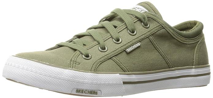 Skecher Street Women's Utopia-Get Low Fashion Sneaker, Olive, 5 M US