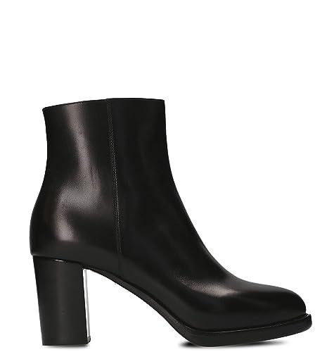 Santoni Mujer WTSV56024HW3CBGNN01 Negro Cuero Zapatos: Amazon.es: Zapatos y complementos