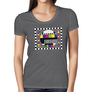 Texlab TBBT: Testscreen/Testbild - Damen T-Shirt, Größe S, Asphalt