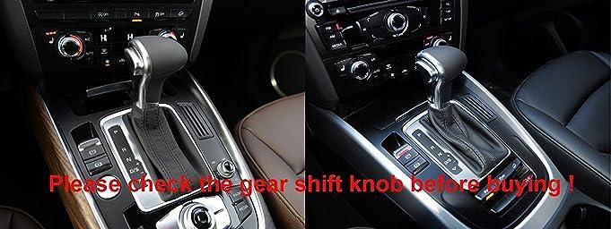 Amazoncom Genuine Leather Gear Shift Knob Cover For - Audi car gear