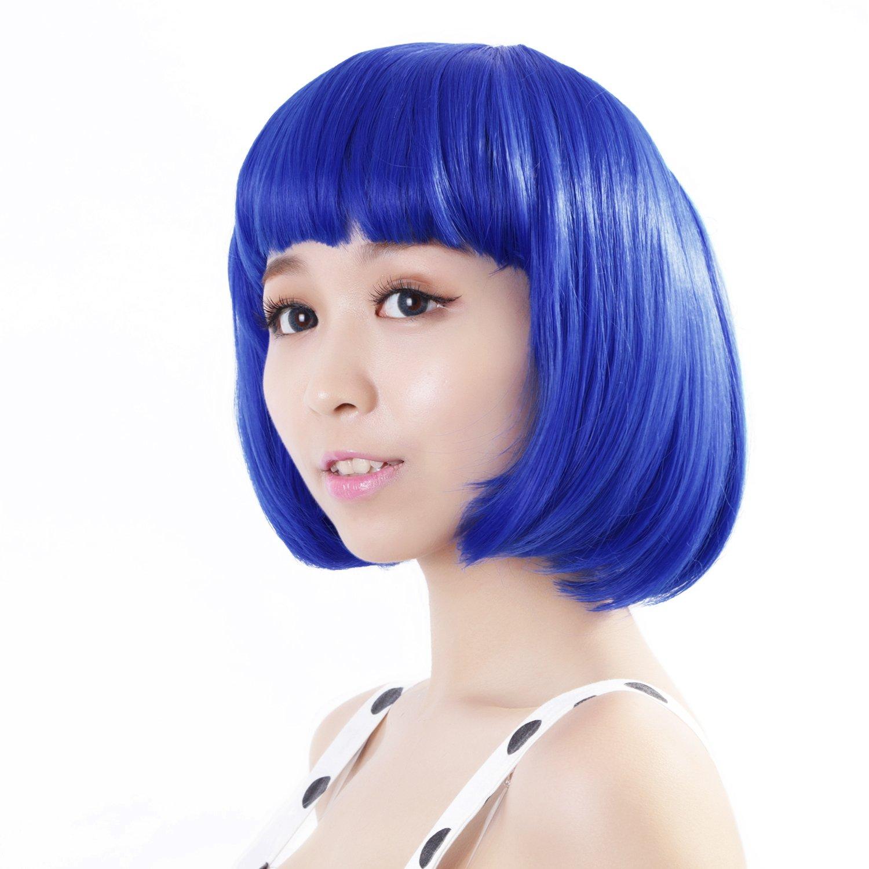 Neitsi 100% Kanekalon Fiber 14'(35cm) 160g/pc Women's Girl's Cosplay Short Synthetic BOB Hair Wigs Christmas Party (Green) Guangzhou Alice Hair Products CO. LTD BOB160