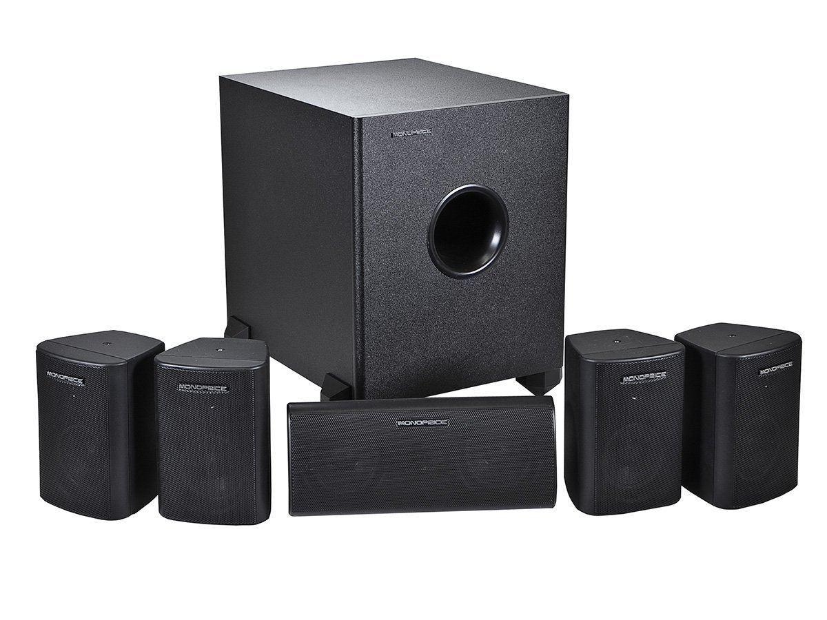Amazon.com: Monoprice 108247 5.1-Channel Home Theater Speaker System ...