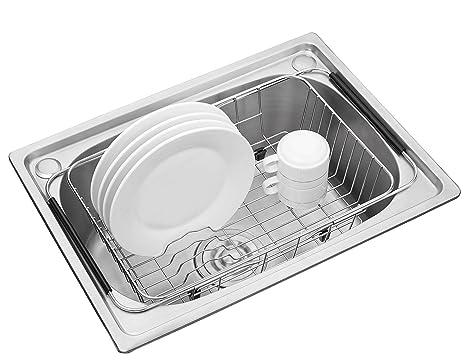 Amazoncom Adjustable Dish Drying Rack 304 Stainless Steel Dish