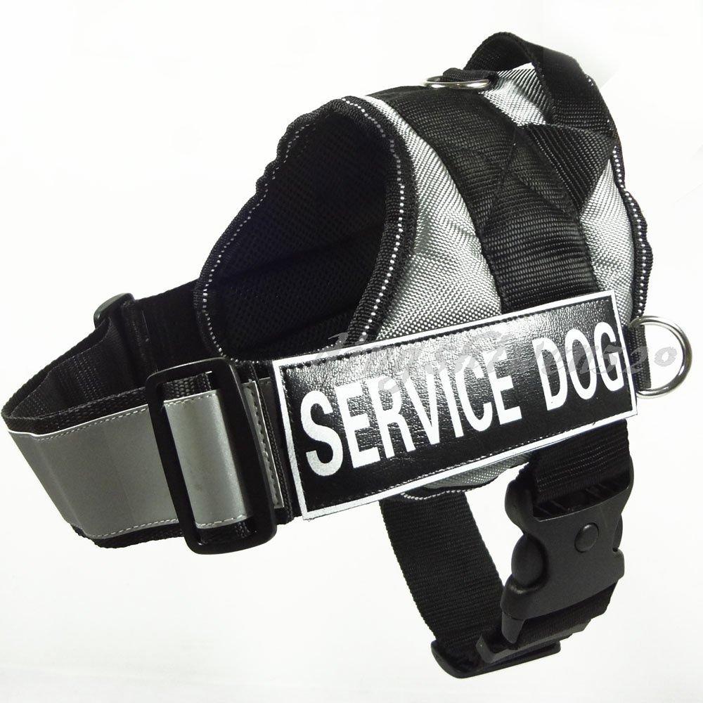 Barker Brands Inc. Padded Reflective Service Vest Harness Grey Large