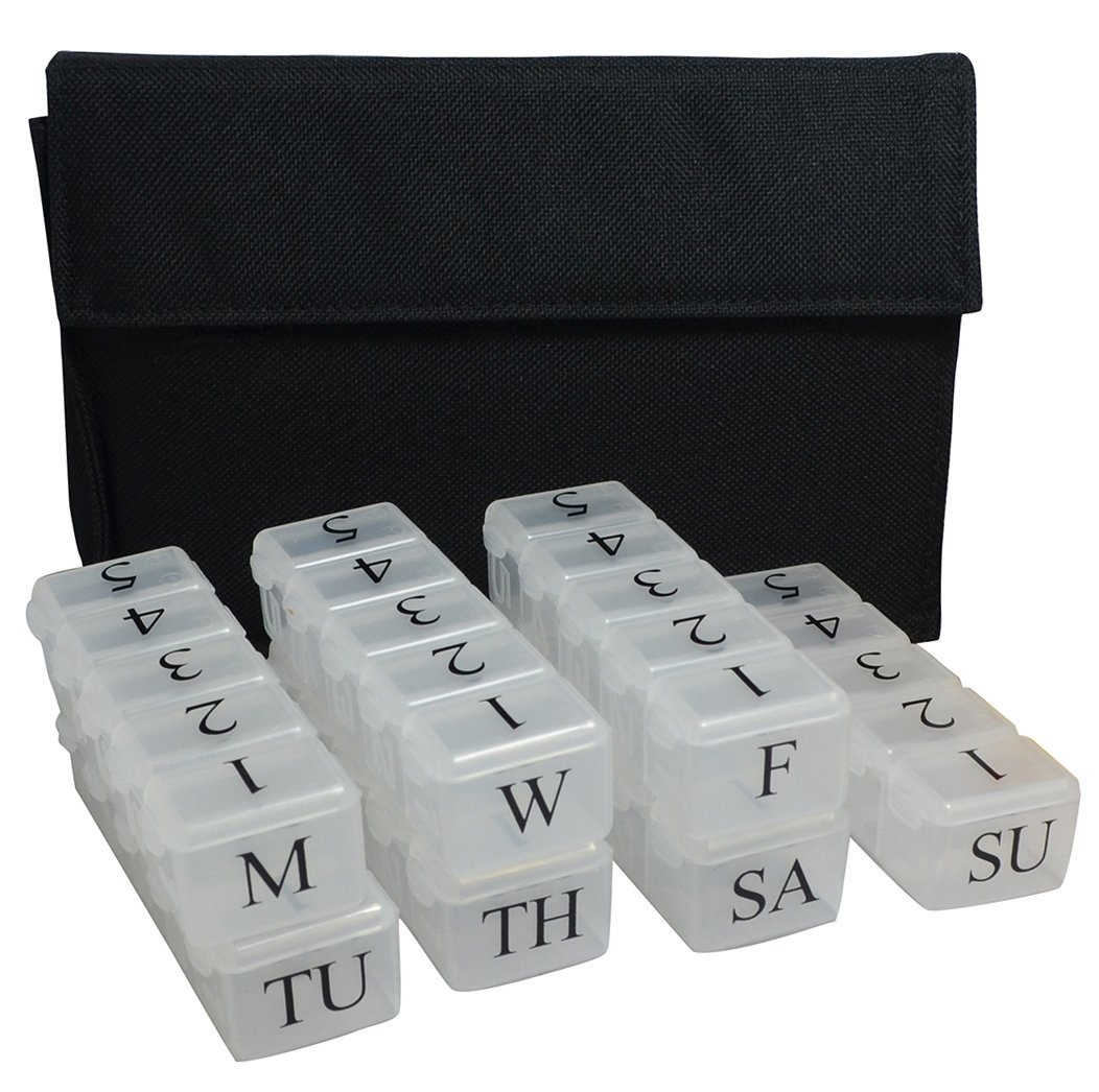 7 Day x 5 Compartments - Pill Box Organizer System