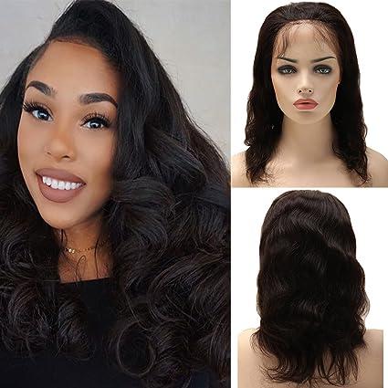 Human Hair Wig Full Lace Mujer peluca pelo auténtico negro largo Brasi lianisches Real Cabello ondulado