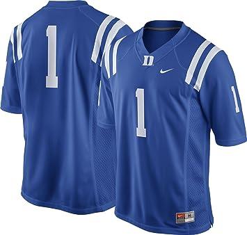 Nike Hombres de Duke Azul Devils # 1 Duke Azul Camiseta de fútbol (XL)