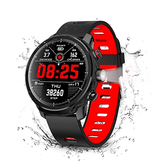 Smart Watch, Wonbo Touchscreen Waterproof Sport Smartwatch,Fitness Tracker with All-Day Pedometer Heart Rate Sleeping Monitor, Call/Message Reminder ...