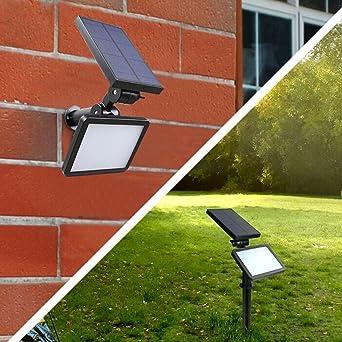 48 LEDs IP65 Wasserdichte Solarscheinwerfer Landschaft Lichter, 2 In 1  Outdoor Solarleuchte Beleuchtung Lampe Für